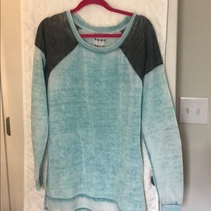 Altar'd State Oversized Teal Sweatshirt
